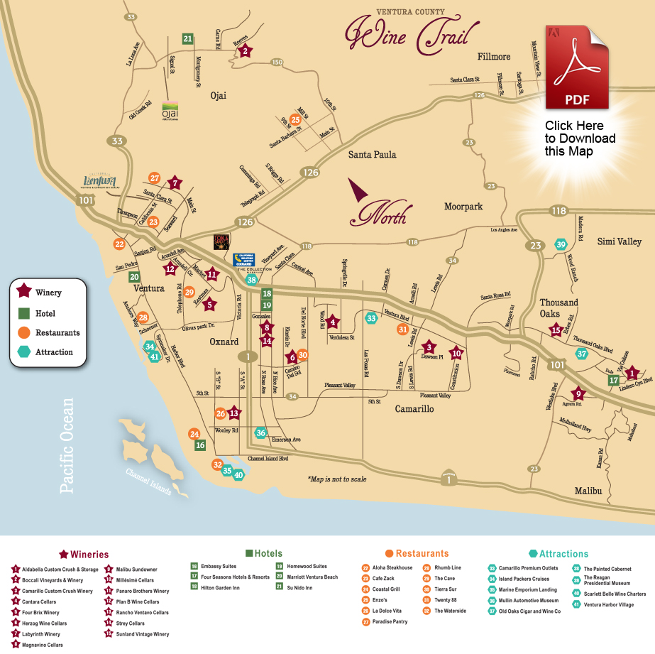Ventura County Wine Trail | Wine Tours & Tasting on ventura county cities, san francisco street map, downey street map, suffolk county street map, ventura county festivals, ventura restaurant map, ventura county information, orange street map, ventura county home, cerritos street map, palmdale street map, meade county street map, ventura county parcel maps, putnam county street map, santa cruz county street map, los angeles orange county map, placer county street map, madera county street map, national city street map, ventura ca map,